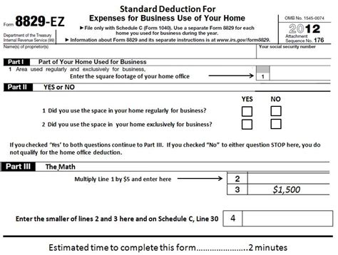 Home Office Deduction Form by Learn More About The Simplified Home Office Deduction