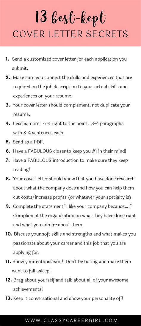 best 25 cover letter tips ideas on