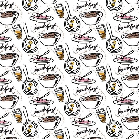 hand drawn wallpaper hand drawn breakfast wallpaper vector free download