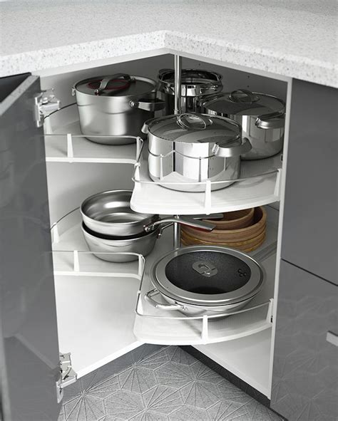 kitchen cabinet organizers for pots and pans the secret to an organized kitchen interior organizers ikea cabinet carousels help to keep