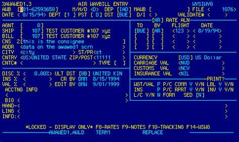 air waybill edit documentation