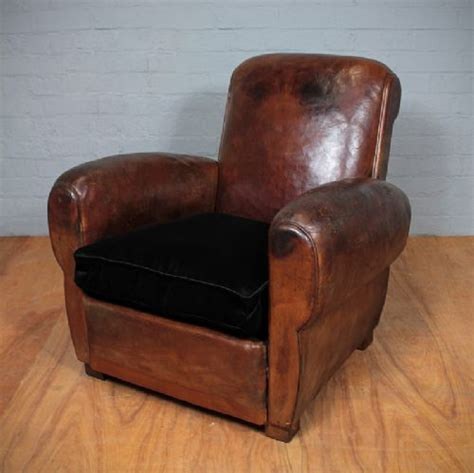 vintage leather armchair vintage french leather armchair 241955 sellingantiques