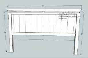 King Size Bed Headboard And Footboard Plans White Farmhouse King Bed Plans Diy Projects