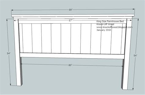 width of king size bed headboard ana white farmhouse king bed plans diy projects