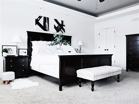 black  white master bedroom ideas covet  tricia