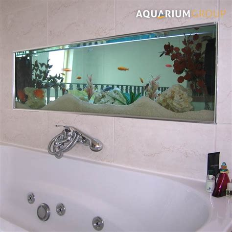 bathroom fish tank bathroom through wall aquarium aquariumgroup uk