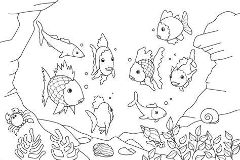 imagenes de ambientes naturales para colorear peces en el oc 233 ano hd dibujoswiki com