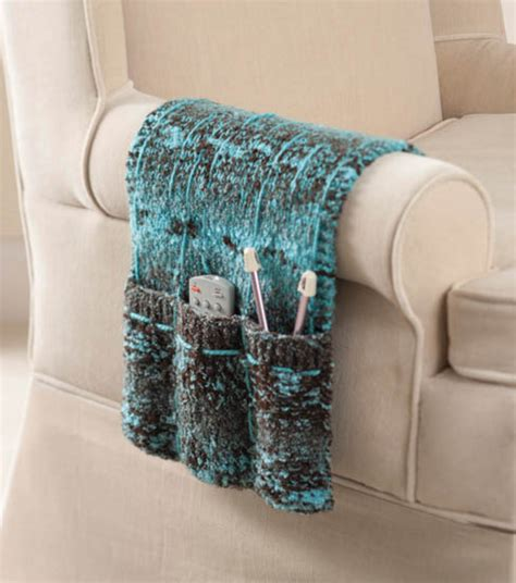 free crochet pattern remote holder armchair caddy joann jo ann