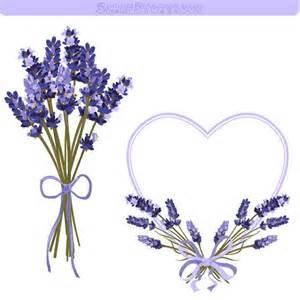 Lavender Flower Frame and Clipart - 300 dpi PNG printable lavender ... A-paper Clip Art