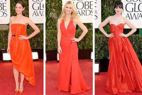 claire danes and zooey deschanel golden globes 2013 fashion beauty and the dirt