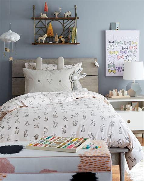 girls bunny themed bedroom crate  barrel
