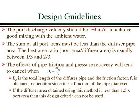 design criteria for a l ppt manifold hydraulics powerpoint presentation id 257722