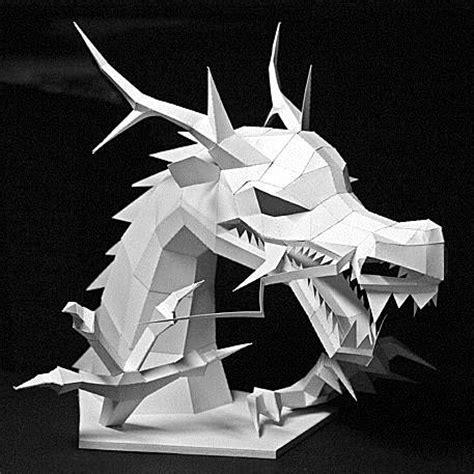 Halo Wall Mural papercraft asian dragon head