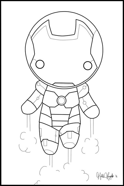 chibi iron man coloring page by kitty stark on deviantart