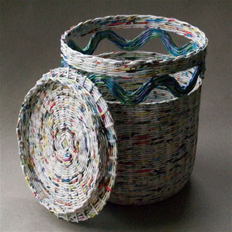 Paper Basket For - home dzine craft ideas make rolled paper wicker baskets