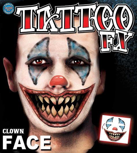 temporary face tattoos temporary tattoos scary clown