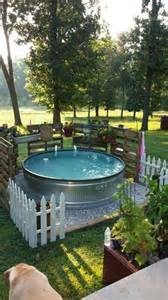 backyard tub diy galvanized stock tank pool to beat the summer heat