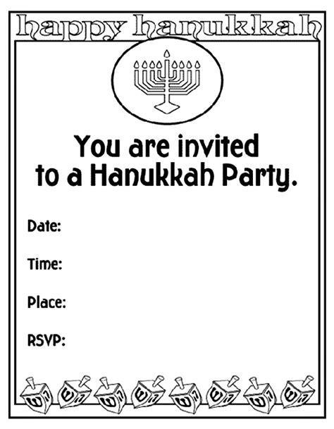 coloring page invitation hanukkah invitation crayola co uk