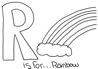 R Is For Rainbow Coloring Page by Rainbow Letter R Coloring Pages Sketch Coloring Page