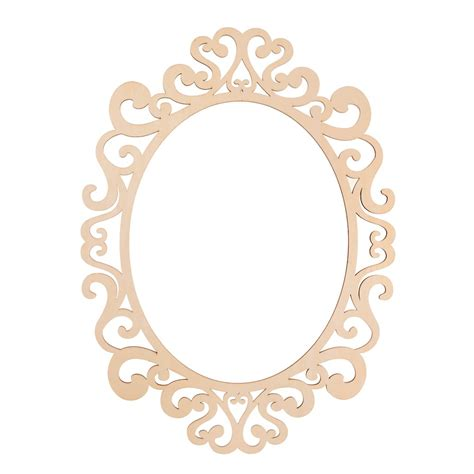 Fancy Oval Laser Cut Wood Frame By Artminds 174 11 Quot X 14 Quot Laser Cut Photo Frame Template