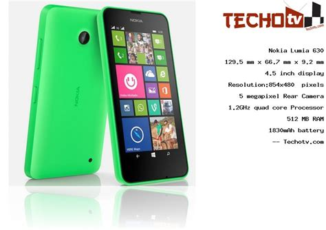Nokia Lumia 630 phone Full Specifications, Price in India
