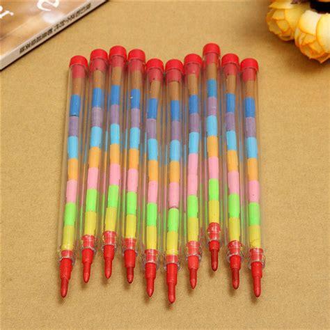 Kotak Crayon Set Isi 54 Pcs 10pcs colored crayons pencil set 10 colors wax nontoxic kid filler alex nld