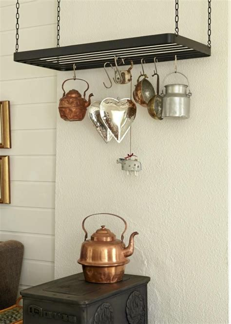 Pot Rack Above Stove Pot Rack Drying Rack Above Woodstove Corner Stove