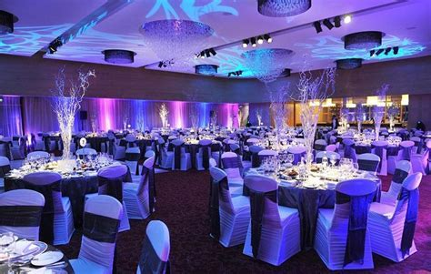 A sparkling winter theme to the decor of a recent gala