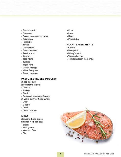 Lectins Gundry Detox Diet by The Plant Paradox Approved Foods Print Friendly List