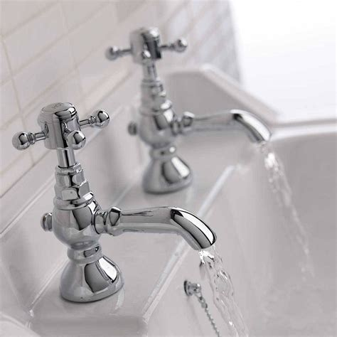 retro bathroom taps enki chrome basin taps bathroom vintage traditional