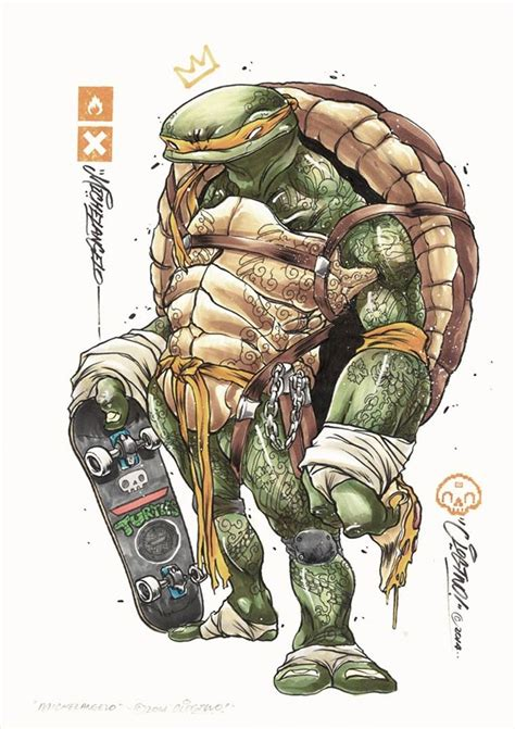 michelangelo basic art series les tortues ninja vues par clogtwo tmnt michelangelo and illustrations