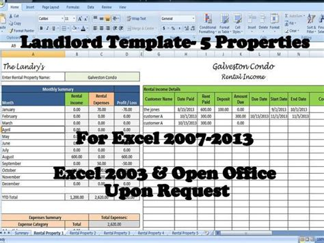 Landlords Spreadsheet Template Rent And Expenses Spreadsheet Rental Property Spreadsheet Template Excel