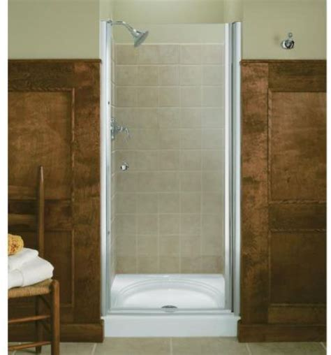 Cost Of Glass Shower Door Frameless Glass Kohler K 702404 L Bh Fluence Frameless Pivot Shower Door With Clear