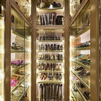 Shoe Bag Boots lighted glass door shoe bag boots cabinets closet ideas