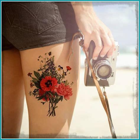 imagenes tatuajes para mujeres en la pierna fotos de tatuajes de flores en la pierna para mujeres