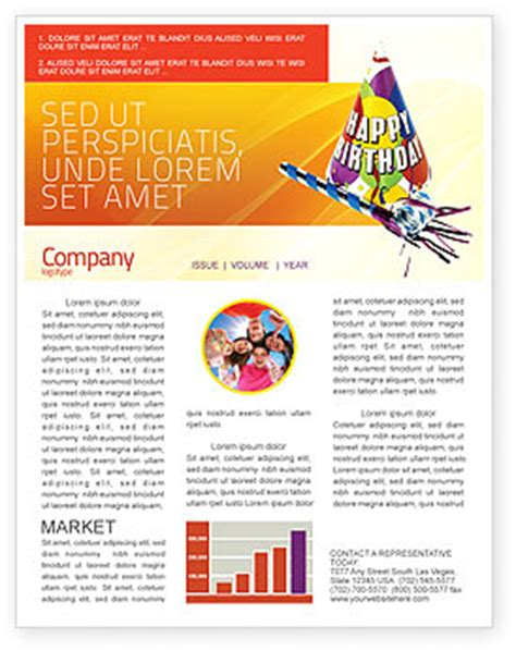 Birthday Newsletter Template For Microsoft Word Adobe Indesign 02513 Download Now Birthday Newsletter Template Free