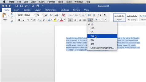 Dauble Spacy how to space in microsoft word