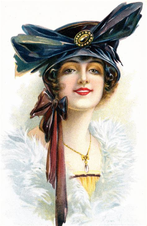 lade vintage collage more vintage postcards haughty and