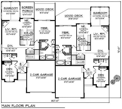 multi family house plans duplex bungalow multi family plan 97394 bungalow duplex plans