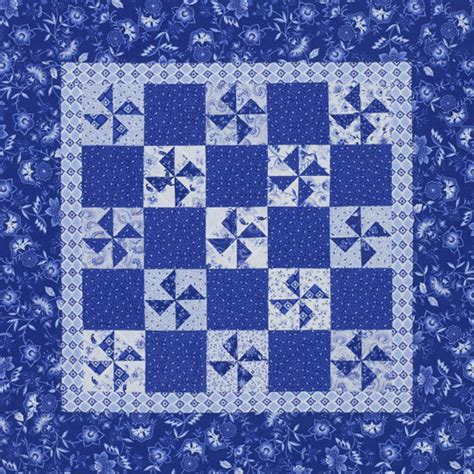 And Blue Quilt Patterns blue and white pinwheels allpeoplequilt