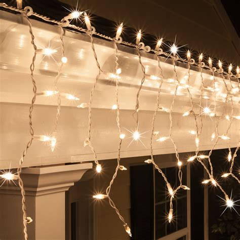 white wire holiday lights christmas icicle light 150 clear twinkle icicle lights