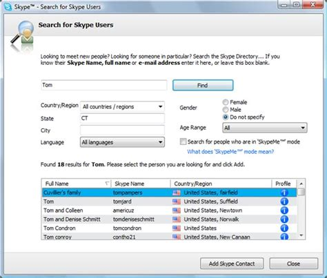 Searching On Skype Skype Could In Social Networking