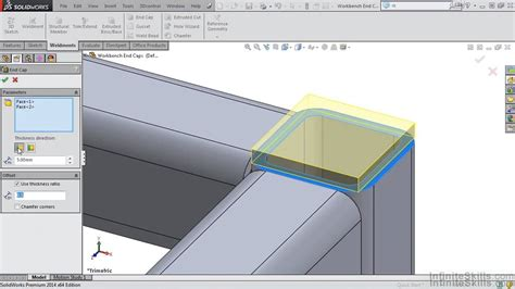 tutorial solidworks weldments solidworks weldments tutorial creating end caps youtube