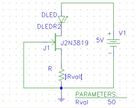 constant current diode jfet can we use voltage source to generate constant current