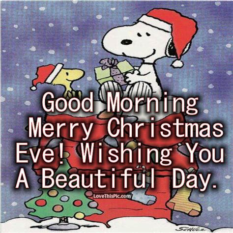 snoopy good morning christmas eve quote pictures   images  facebook tumblr