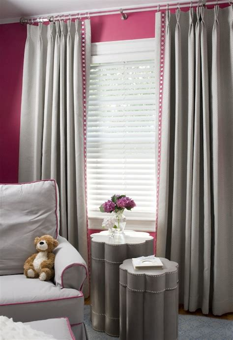 what color curtains for pink walls pink and gray nursery design contemporary nursery