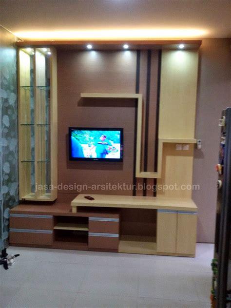 Multiplek Lapis Melamin kontraktor interior surabaya sidoarjo desain meja tv dan