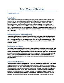 music appreciation concert report essay