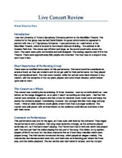 jazz concert review essay