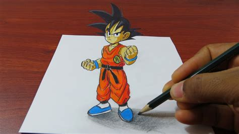 imagenes en 3d goku art painting drawing tips and tutorials how to draw 3d